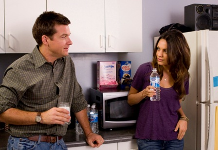 Jason Bateman as Joel and Mila Kunis as Cindy in Extract.
