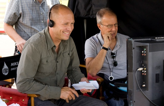 Mike Judge on the set of Extract.