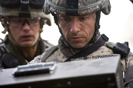 (Left to right) Brian Geraghty and Guy Pearce star in The Hurt Locker.