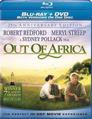 Out of Africa: 25th Anniversary Edition will be released on Blu-Ray on April 27th, 2010.