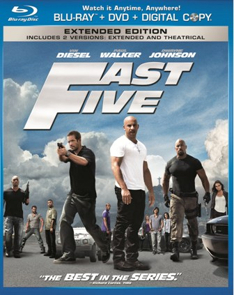 Fast Five was released on Blu-ray and DVD on October 4th, 2011