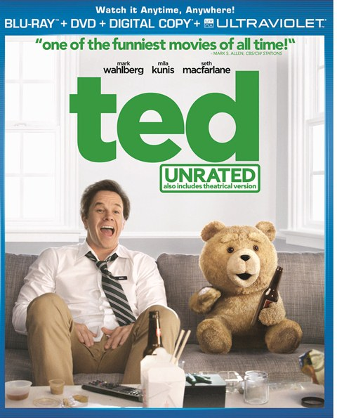 Ted was released on Blu-ray and DVD on December 11, 2012