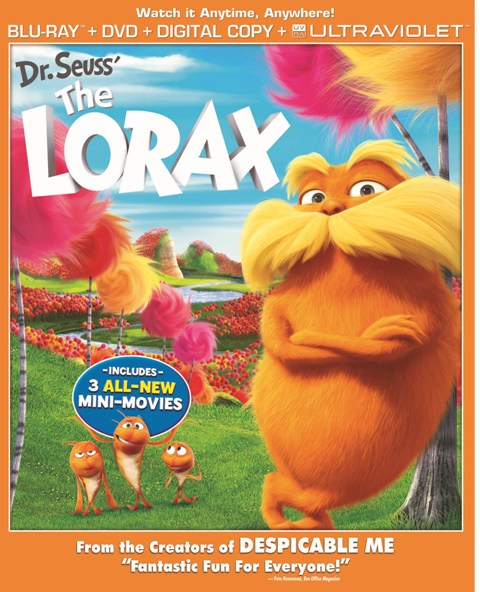 Dr. Seuss' The Lorax was released on Blu-ray and DVD on August 7, 2012