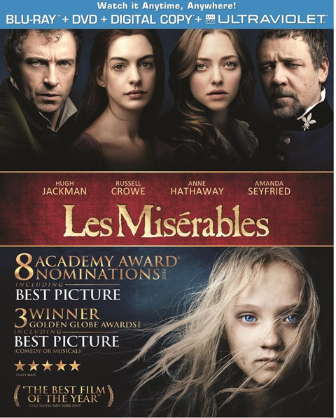 Les Miserables was released on Blu-ray and DVD on March 22, 2013