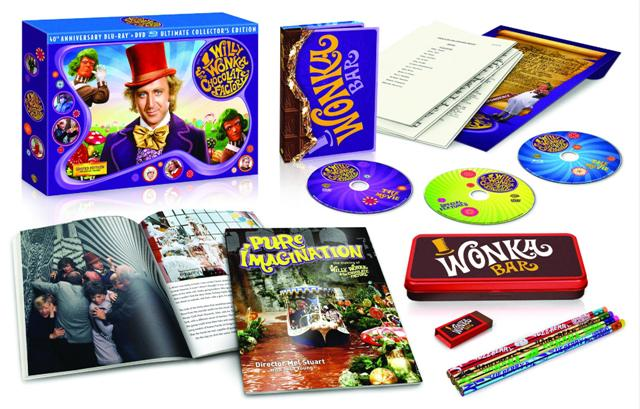 Willy Wonka and the Chocolate Factory 40th Anniversary Ultimate Collector's Edition Blu-ray Combo Pack will be available October 18!  Also available digitally via On Demand and For Download.