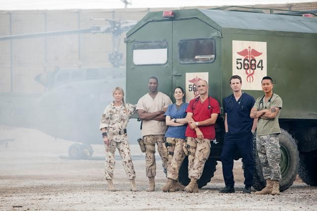 Deborah Kara Unger, Arnold Pinnock, Michelle Borth, Elias Koteas, Luke Mably and Terry Chen star in ABC's Combat Hospital.