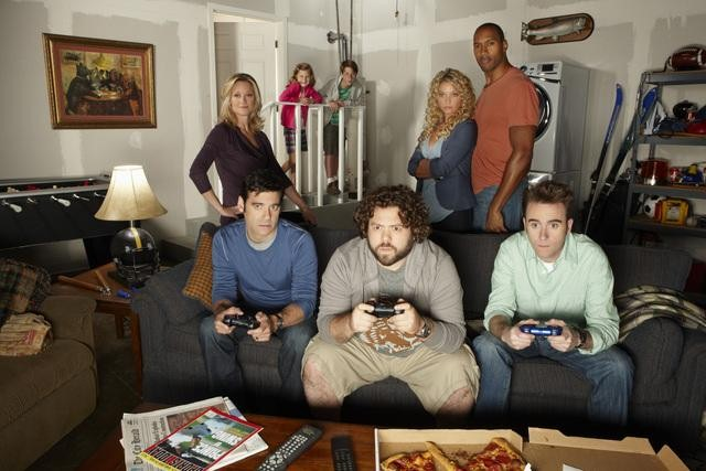 Teri Polo, Mather Zickel, Charlotte Labadie, Jake Johnson, Dan Fogler, Amanda Detmer, Henry Simmons and Christopher Moynihan star in ABC's Man Up.