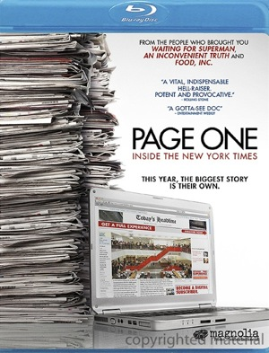 Page One was released on Blu-Ray and DVD on Oct. 18, 2011.
