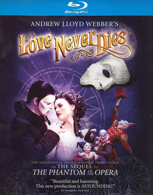 Love Never Dies was released on Blu-ray and DVD on May 29, 2012.