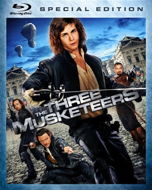 The Three Musketeers was released on Blu-ray and DVD on March 13, 2012.