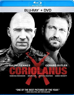 Coriolanus was released on Blu-ray and DVD on May 29, 2012.