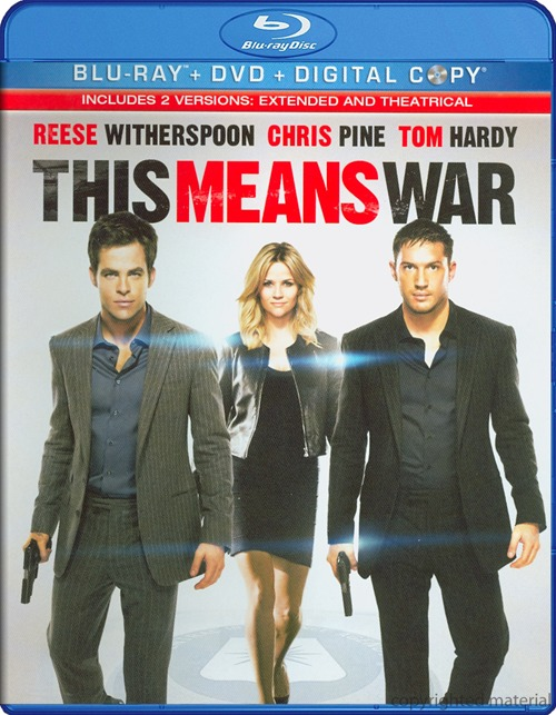 This Means War was released on Blu-ray and DVD on May 22, 2012.
