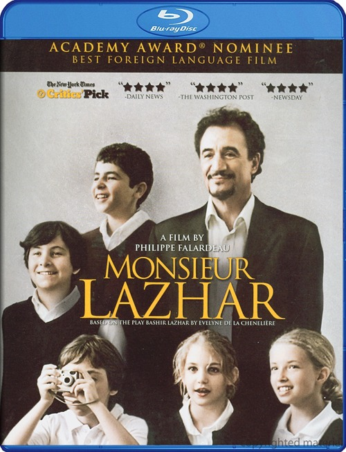 Monsieur Lazhar was released on Blu-ray and DVD on August 28, 2012.