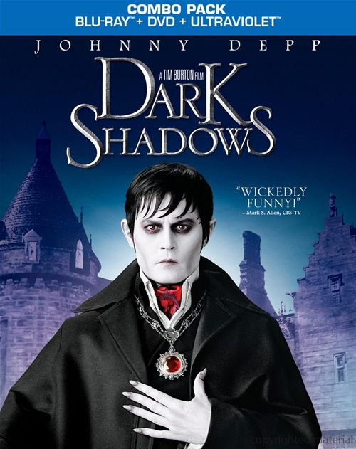 Dark Shadows was released on Blu-ray and DVD on October 2, 2012.