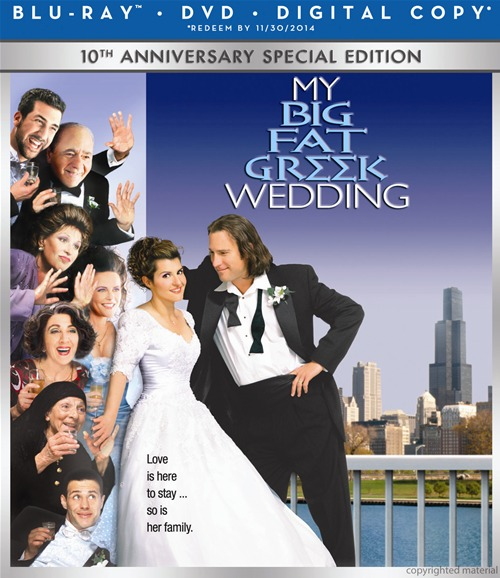 My Big Fat Greek Wedding was released on Blu-ray and DVD on November 13th, 2012.