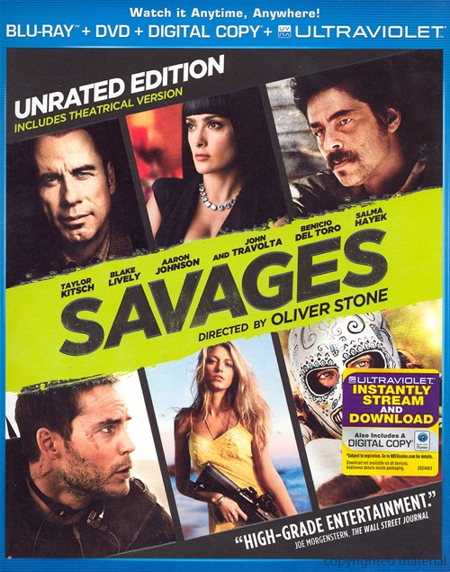 Savages was released on Blu-ray and DVD on November 13th, 2012.