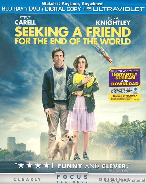 Seeking a Friend for the End of the World was released on Blu-ray and DVD on October 23rd, 2012.