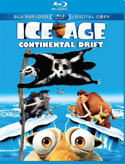 Ice Age: Continental Drift was released on Blu-ray and DVD on December 11th, 2012.