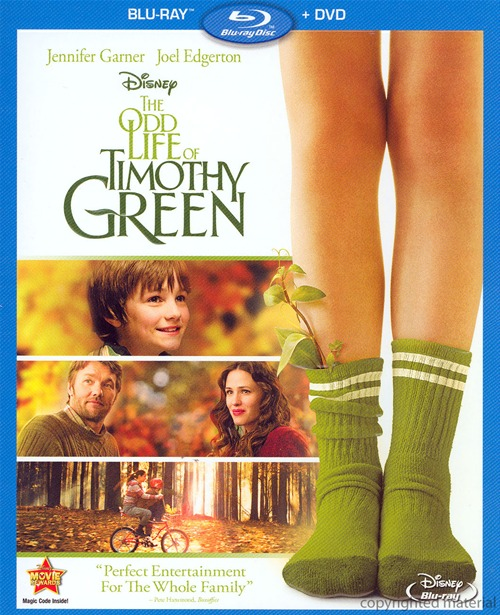 The Odd Life of Timothy Green was released on Blu-ray and DVD on December 4th, 2012.