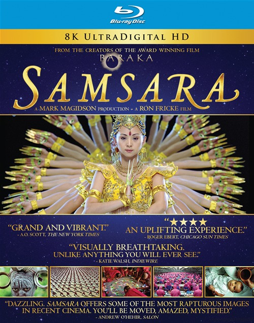 Samsara was released on Blu-ray and DVD on January 8th, 2013.