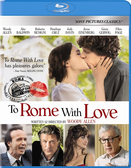 To Rome with Love was released on Blu-ray and DVD on January 15th, 2013.