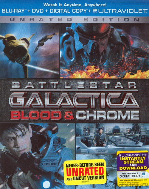 Battlestar Galactica: Blood and Chrome was released on Blu-ray and DVD on February 19th, 2013.