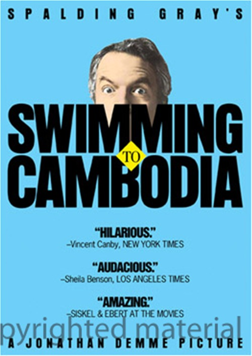 Swimming to Cambodia was released on DVD on May 28th, 2013.