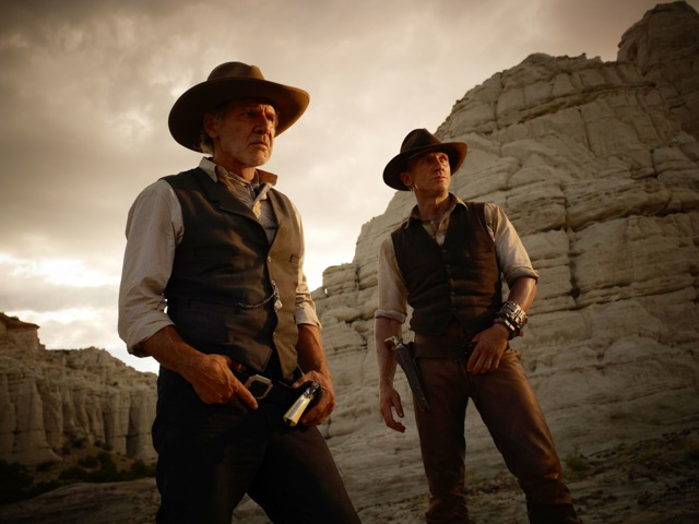 Harrison Ford and Daniel Craig star in Jon Favreau's Cowboys and Aliens.