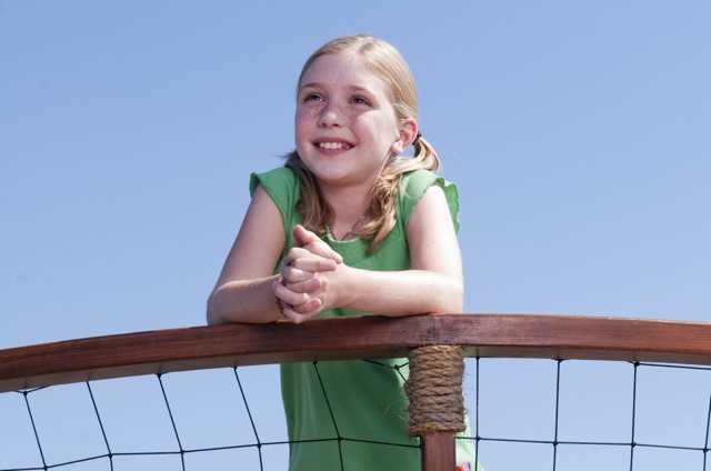 Cozi Zuehlsdorff lights up the screen in Charles Martin Smith's Dolphin Tale.