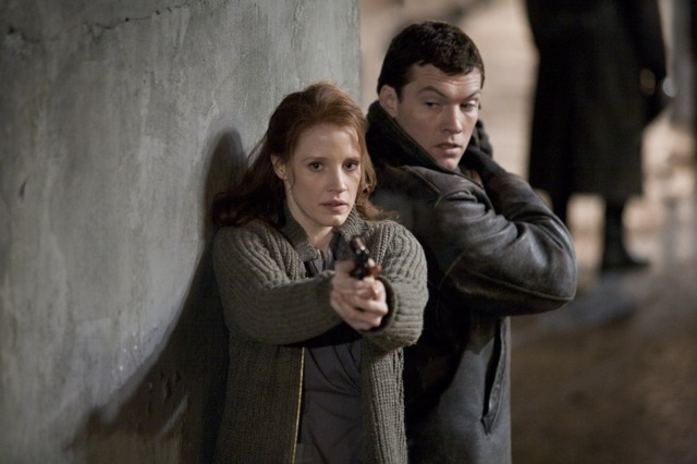 Jessica Chastain and Sam Worthington star in John Madden's espionage thriller The Debt, a Focus Features release.