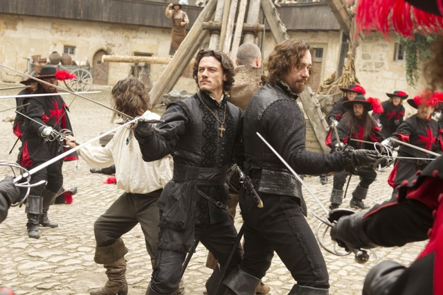 Logan Lerman, Luke Evans and Matthew Macfadyen star in Paul W.S. Anderson's The Three Musketeers.
