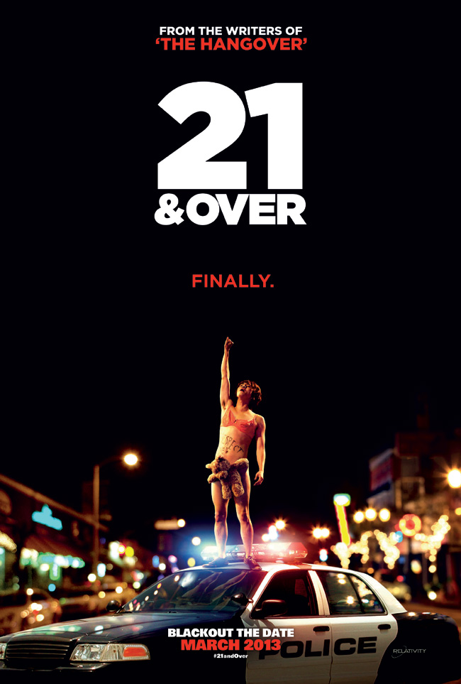The movie poster for 21 and Over from the writers of The Hangover