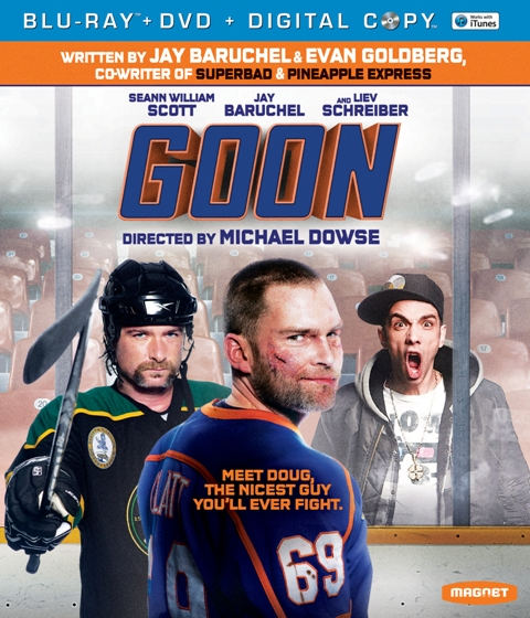 Goon was released on Blu-ray and DVD on May 29, 2012
