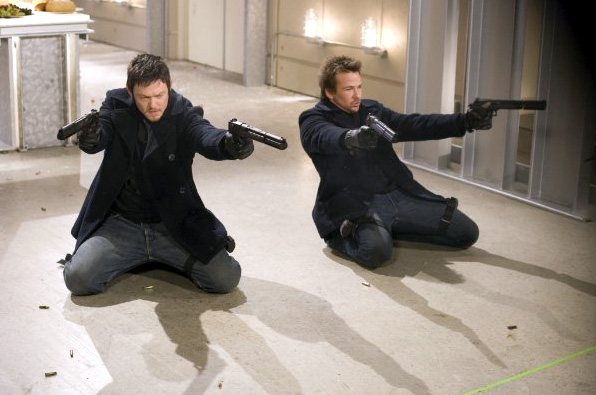 Norman Reedus (left) and Sean Patrick Flanery in The Boondock Saints II: All Saints Day