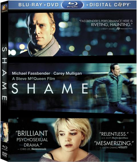 Shame was released on Blu-ray and DVD on April 17, 2012.