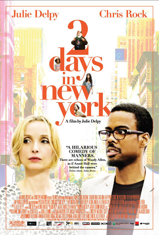 The 2 Days in New York movie poster with Chris Rock and Julie Deply