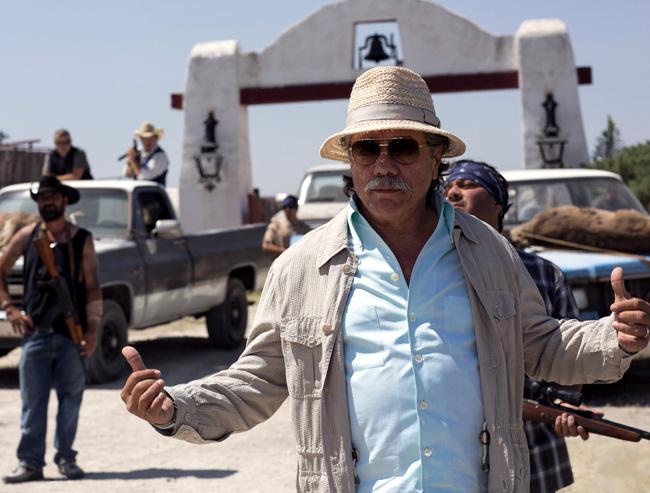 Edward James Olmos as drug warlord Papi Greco in 2 Guns