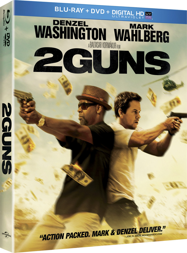 2 Guns with Mark Wahlberg and Denzel Washington comes to Blu-ray and DVD combo pack on Nov. 19, 2013