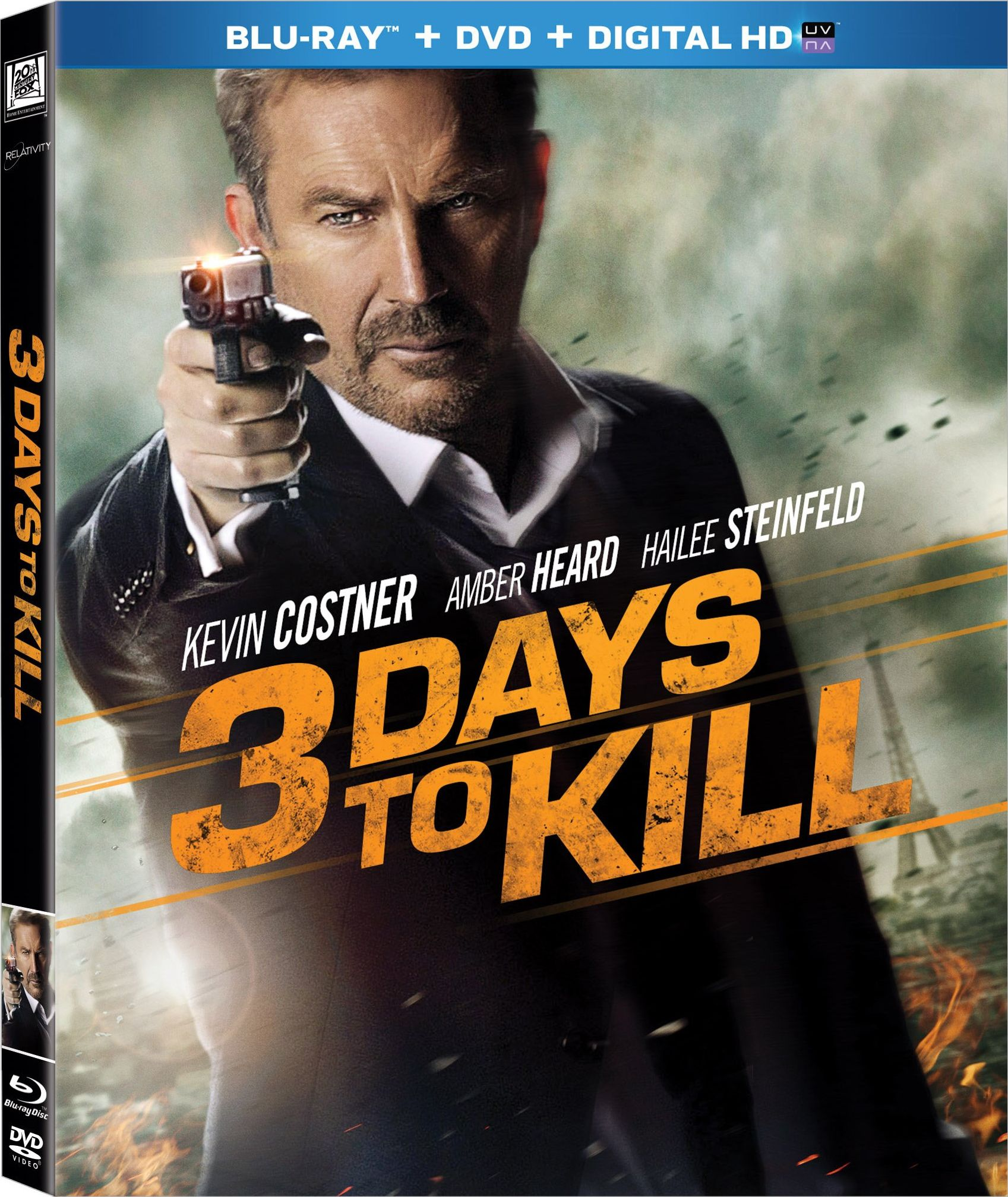 3 Days to Kill was released on Blu-ray in May 20, 2014