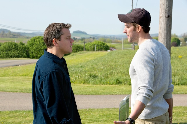 Matt Damon and John Krasinski star in Gus Vant Sant's Promised Land, a Focus Features release.