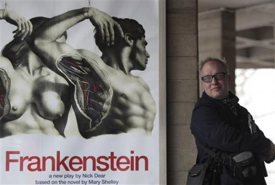 Frankenstein designer Mark Tildesley stands outside Britain's National Theatre.
