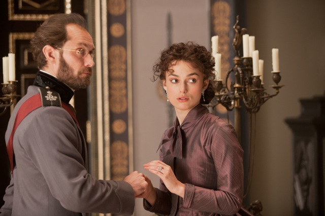 Jude Law and Keira Knightly star in Joe Wright's Anna Karenina, a Focus Features release.