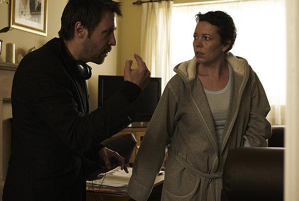 Paddy Considine directs Olivia Colman on the set of Tyrannosaur.