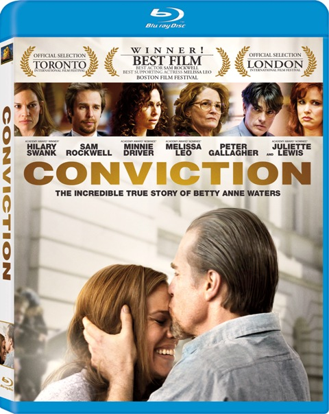 Conviction was released on Blu-Ray and DVD on February 1st, 2011