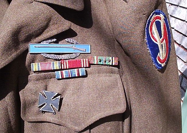 WWII-era Uniform with the 95th Infantry Division Insignia