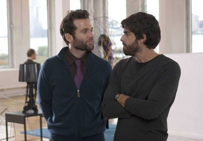 Sibling Rivals: Eion Bailey as Josh and the Unsmiling Adam Goldberg in '(Untitled)'