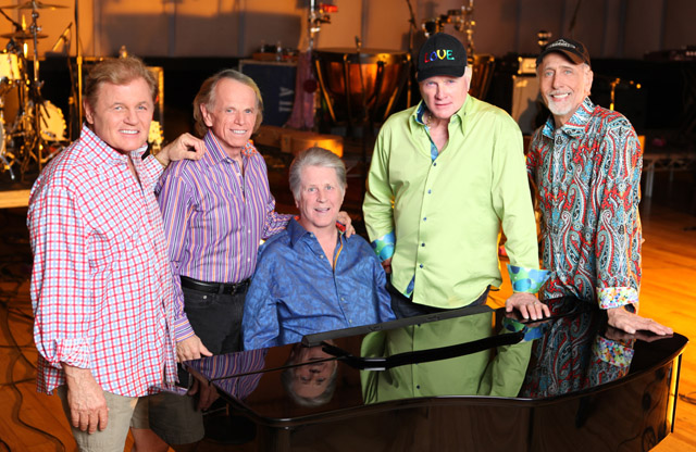The Beach Boys at 50, L-R: Bruce Johnston, Al Jardine, Brian Wilson, Mike Love and David Marks