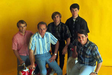 Early Shot of The Beach Boys, L-R – Al Jardine, Mike Love, Dennis Wilson, Brian Wilson, Carl Wilson