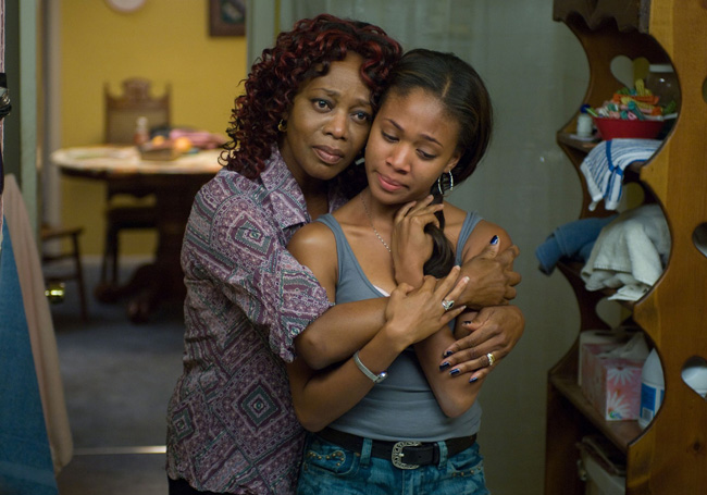 Alfre Woodard as Alma Roberts and Nicole Beharie as Dee Roberts in 'American Violet'