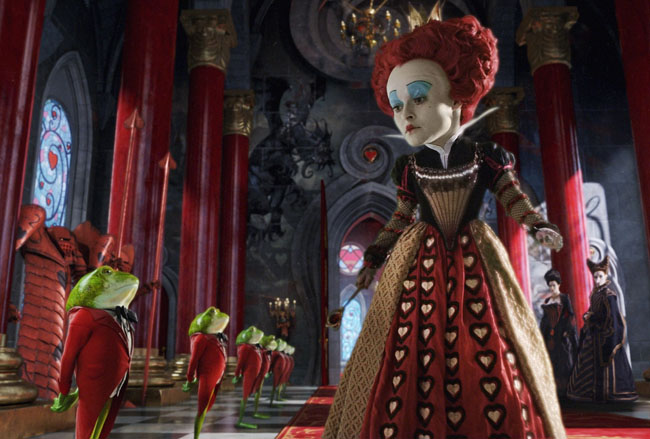 The Royal Scam: Helena Bonham Carter as the Red Queen in 'Alice in Wonderland'